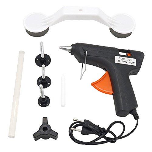 Auto Dellen Reparatur Kits, KFZ Reparaturset Werkzeuge, Abzieher Reparatur Werkzeug mit Gun Selbstklebend Sticks und Heißklebepistole