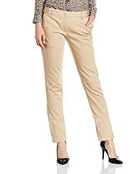 Park Avenue Woman Tapered Pants (PWTF00550-F2_Light Fawn_71)