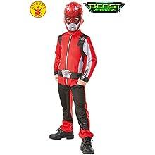 Rubie's Official Power Rangers, Beast Morphers Costume - Red Ranger Childs Classic Costume Medium, 5-6 years