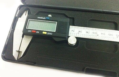 PicknBuy Digital Messschieber 0-150 mm LCD Anzeige mm/Zoll Maß Mm Lcd