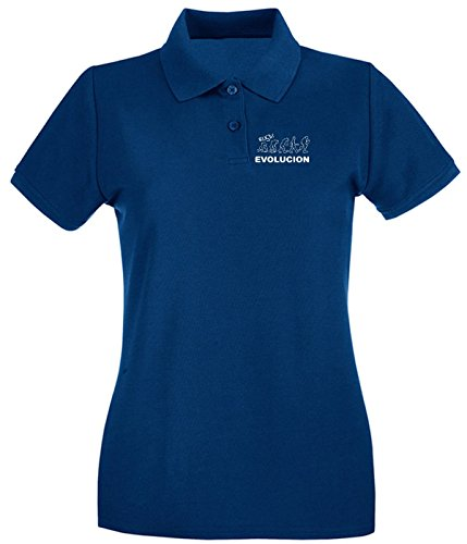 Cotton Island - Polo pour femme SP0065 evolucion Maglietta Bleu Navy