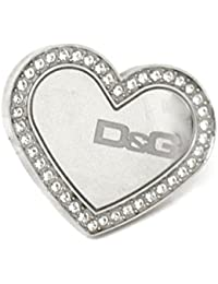 D & G Dolce and Gabbana Overlap Ring Heart