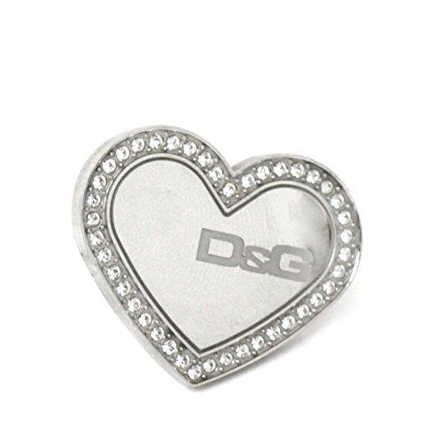 D & G Dolce y Gabbana Anillo Overlap Corazón
