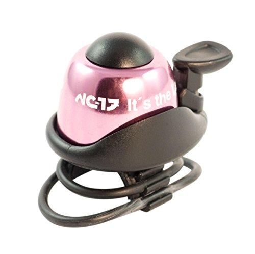 NC-17 Fahrradklingel / Fahrradglocke / Fahrradhupe / Klingel Glocke Hupe für Fahrrad / Aluminium / in 6 Farben erhältlich (Klingel Rosa)