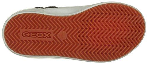 Geox J Alonisso B, Scarpe da Ginnastica Alte Bambino Blu (Navy/brownc0948)
