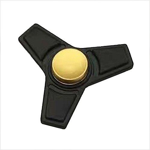 Christmas Concepts® - Tri Fidget Hand Spinner - Réducteur de stress, Soulagement de stress, Autisme - Noir mat Avec design en or
