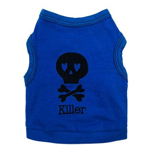 rts Sommer-Halloween-Mörder-Baumwollhaustier-Welpen-Katzen-Kleidung ()