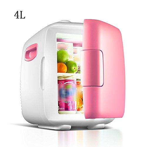 FJW Minikühlschrank Elektrischer Kühler Und Wärmer 8L Hohe Kapazität Kühlschrank Kühlschrank Wechselstrom/Gleichstrom Schnelle Kühlung Tragbar Thermoelektrisches System,Pink4l