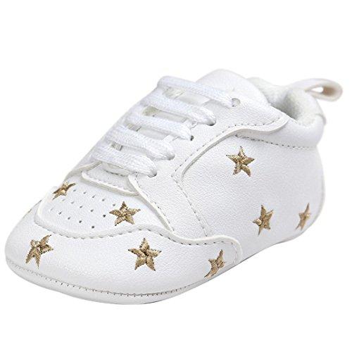 Primeros Pasos Zapatos de Bebé, Zapatillas para Infantil Recién Niñas Niños 0-18 Mes Tamaño:0-6Mes...