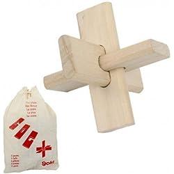 Juego de ingenio Goki ROMPECABEZAS CRUZ de madera para ejercitar la inteligencia Niños + 8 años