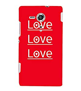 Love Love Quotes 3D Hard Polycarbonate Designer Back Case Cover for Sony Xperia SP :: Sony Xperia SP M35h