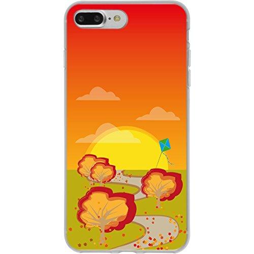 PhoneNatic Apple iPhone 7 Plus / 8 Plus Custodia in Silicone autunno M5 Case iPhone 7 Plus / 8 Plus + pellicola protettiva Motiv:02