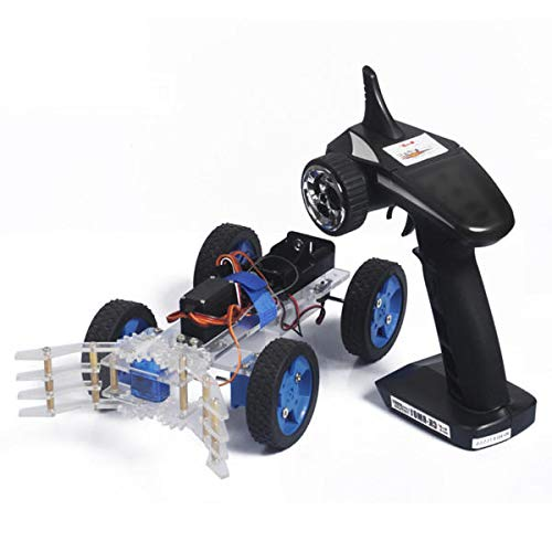 Assembling DIY Smart Car Kit Servo Steel Ring Remote Gripper With Remote Control - type one - Remote-control Kit Car