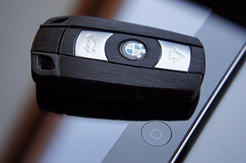 Preisvergleich Produktbild Alugeürstet Schwarz Folie für Ihren 3 Tastenschlüssel von Wizuals©