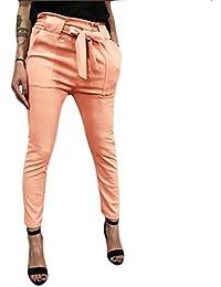 d72c2ed404c808 Hosen Damen,Frauen Modische Schicke Elegante Stoffhose Chino Hose Leichte Sommerhose  Lässige Luftige Lockere Hose
