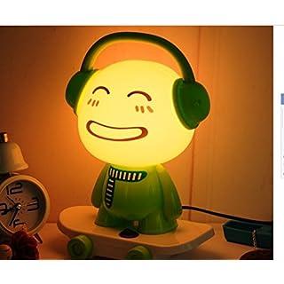 akldigital creative lovely table desk bedside lamp bedroom light cartoon DJ kids shape for baby chirlden o girl friend as gift