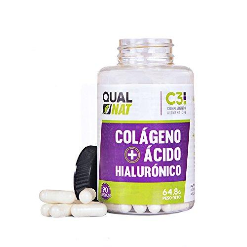 41UapnC3WDL - Collagene con acido ialuronico per una pelle sana - Collagene con vitamina C e zinco per contribuire a migliorare l'elasticità e la salute delle ossa e delle articolazioni - 90 capsule