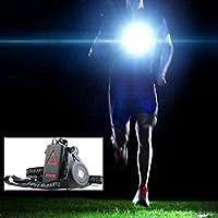 Bazaar Außen LED Brust Licht Nachtlaufwarnleuchten mit abnehmbarer Befestigungsband USB Gebühr für Camping Wandern Laufen