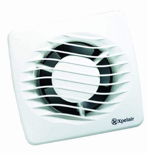 Xpelair DX100H - Extractor de aire axial para baño con temporizador e higrostato