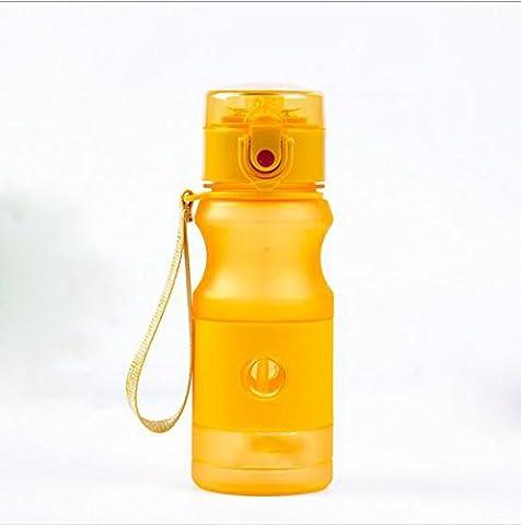 Erwachsene Plastikbecher Kinder Wasserkocher Bunte Sport Stroh Schalen Kreative Geschenke ( Color : Orange )