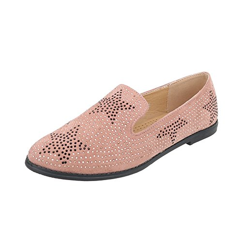 Pantofola Scarpe Da Donna Pantofola Pantofola Tacco Basso Ital-design Scarpe Basse Rosa Antico