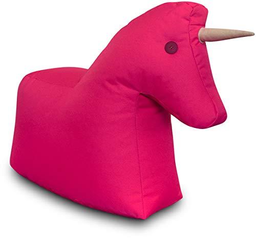 Sitting Bull - Happy Zoo - Einhorn - Pink - 100{d054ebd885af617f043714724aa824da84f832da3f1227e4eb86ab73fd2a4f04} Polyester - (LxBxH): 73 x 30 x 50 cm - streng Limitierte Sonderedition