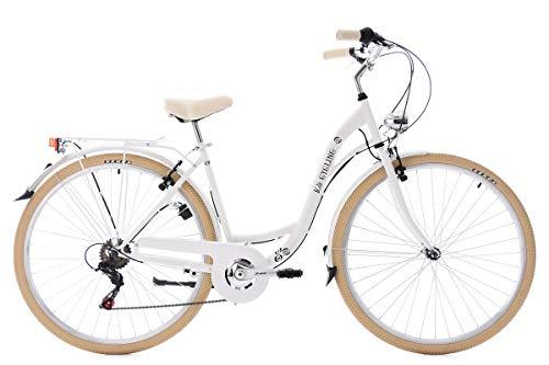 "KS Cycling Damen Damenfahrrad Cityrad 28\"" Casino weiß 6 Gänge Fahrrad,"