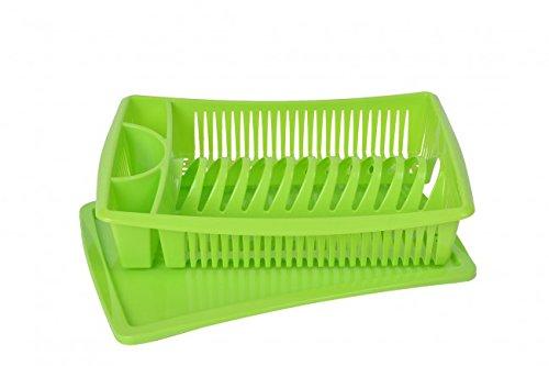 Abtropfgestell - grün - Abtropfgitter - Geschirr Abtropfkorb - Abtropfständer - Abtropfschale - Geschirrabtropfständer - Geschirrabtropfkorb
