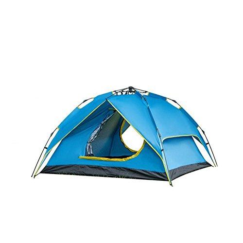 Waroomss Portable 4persona doppio strato Instant pop up tenda da campeggio Outdoor Shelter