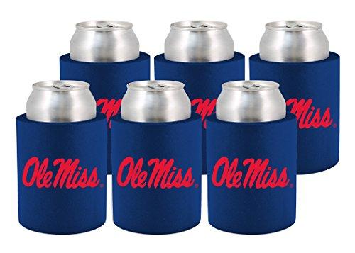 kolder-licensed-inc-beverage-insulator-6-pack-mississippi-rebels-phoozie-set-blue-red-12-oz