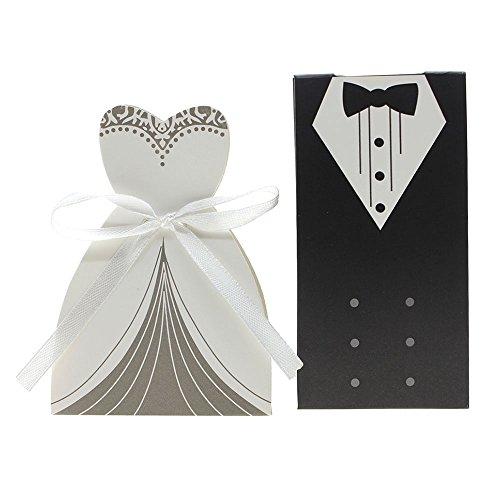HuntGold Europa Art Tuxedo + Bridedress Form Süßigkeit-Kästen Brautkleider Anzüge Papier Kasten...