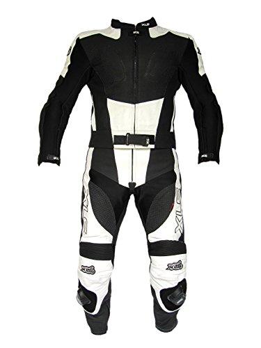 *XLS Black White Arrow Lederkombi in Kurzgröße 27 (54) schwarz weiß*