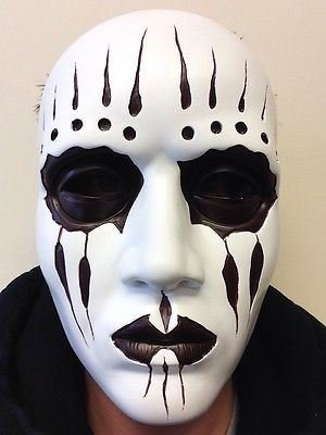 Deluxe Heavy Metal Drummer Resin Mask Slipknot Joey Style Fancy