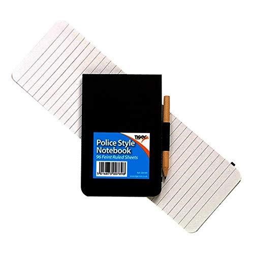 Tiger - Libreta de notas de bolsillo de estilo policial con...