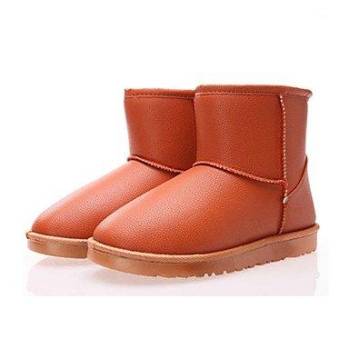 RTRY Scarpe Donna Pu Autunno Inverno Lanugine Fodera Comfort Novità Snow Boots Fashion Stivali Stivali Tacco Piatto Round Toe Stivaletti/Stivaletti Per US8.5 / EU39 / UK6.5 / CN40