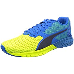Puma Ignite Dual - Zapatillas de Running Unisex Adulto, Color Azul (Blue/Yellow 02) Talla 42