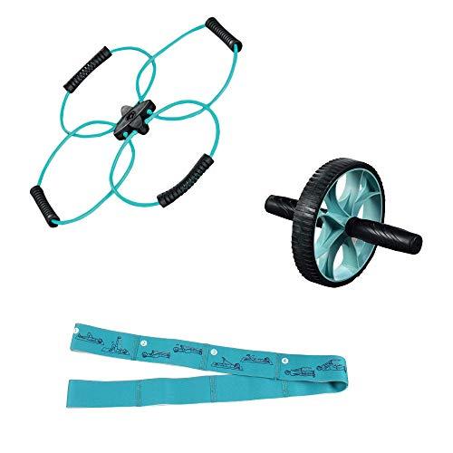 SHIQING Stretchgürtel X-Type Puller Damen dreiteiliger Silikon-Puller Multifunktions-Yoga-Stretchgürtel Health Wheel Set -