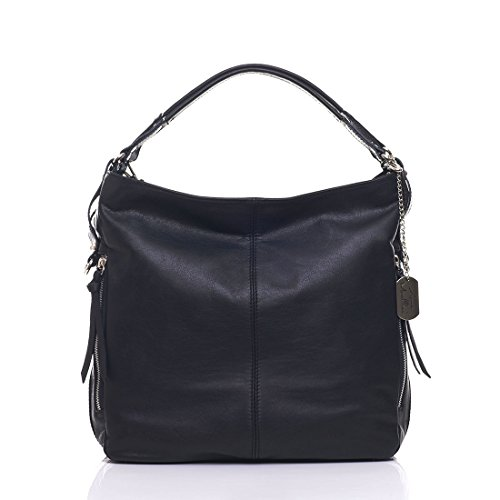 Bag Handbag body Tote Made Morellini 36x16x39 Bag Schwarz Leather in Anna Shopper cm Shoulder cross Italy 4qRgxwA