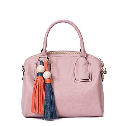 Automne Et Hiver Femmes PU Sacs à Main En Cuir De Mode pink