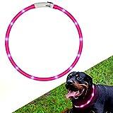 XDODD Weihnachten Hundesocken Anti-Rutschsocken Hundeschuhe Pfotenschutz Wasserdicht für Mittlere und Große Hunde 4er/Set S-XL(Weihnachtsbaum/Weihnachtsbaum/Schneemann/Elch) (Pink)