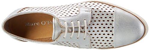 Marc O'Polo 70114013401110 Lace Up, Chaussures à Lacets Femme Argenté