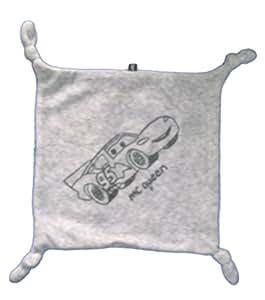Doudou plat carré gris Flash MC Mac QUEEN Cars 4 noeuds