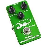 Joyo JF-10 - Pedal de efecto compresión para guitarra (batería zinc carbono), color verde