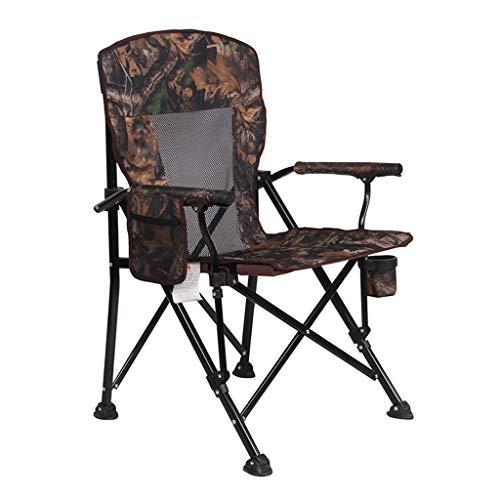 KHL Neuer atmungsaktiver Netz-Klappstuhl im Freien, tragbarer Strand-Stuhl, der den 300 Kilogramm-Direktor Chair Fishing Chair Lounge Chair trägt (Farbe : Camouflage Color)