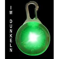 Pendiente luminoso del LED incl. Bateria para perros, gatos, mascotas | LED pendiente de perros en verde NUEVO de la marca PRECORN