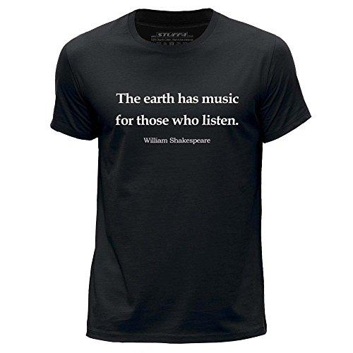 (L)/Schwarz/Rundhals T-Shirt/William Shakespeare Zitat (Shakespeare Kleidung)