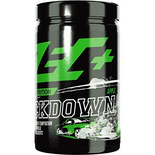 ZEC+ Kickdown 2.0 Pre-Workout Booster, Trainingsbooster mit Aminosäuren (BCAAs), Arginin AKG, Creatinol-O-Phosphat, Betain, Citrullin-Malat & Ginseng Extrakt, 600 g, Geschmack Apple - Pump Pre-workout Creatin