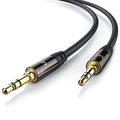 Uplink - 0,5m Câble jack audio | câble de connexion pour entrées AUX | Connecteur entièrement métallique sur mesure | 2 x Prise jack audio 3,5 mm (3 pôles) | Série HQ Premium