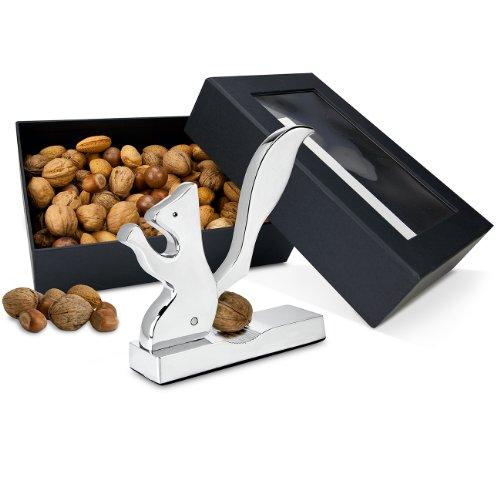 Geschenk Set Eichhörnchen-Metall-Nussknacker mit Mischnüssen (1 x 800 g)
