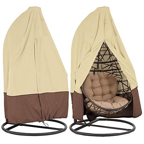 YXX- Couvertures de meubles Couverture de balancelle de jardin de balançoire anti-pluie de couvertures extérieures de patio, couverture antipoussière de 210D Oxford tissu préside (paquet de 2)